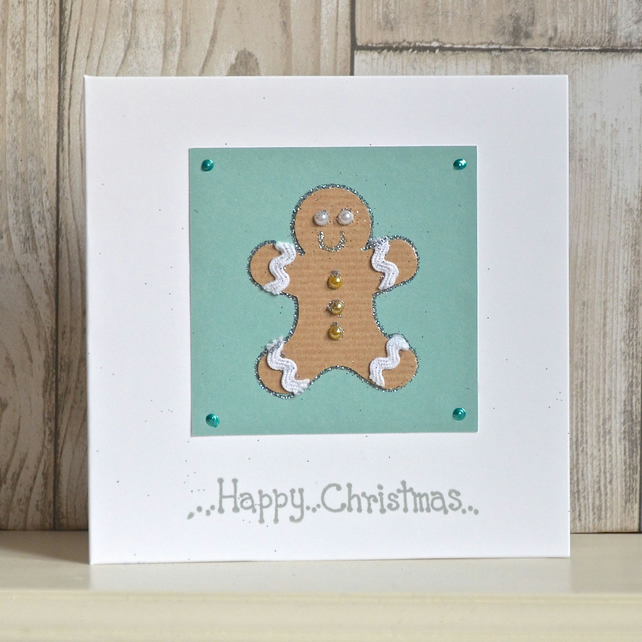 Christmas card - gingerbread man