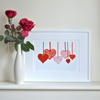 Mother's Day embellished Red Heart print