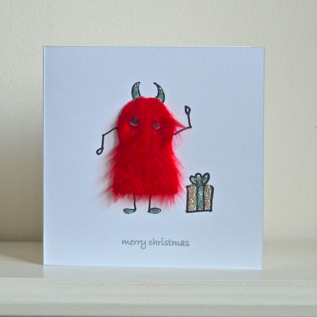 Christmas card - mini monster