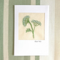 Embroidered textile Birthday card - cow parsley