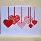 Valentine's Day card - Red heart valentines card for your loved one