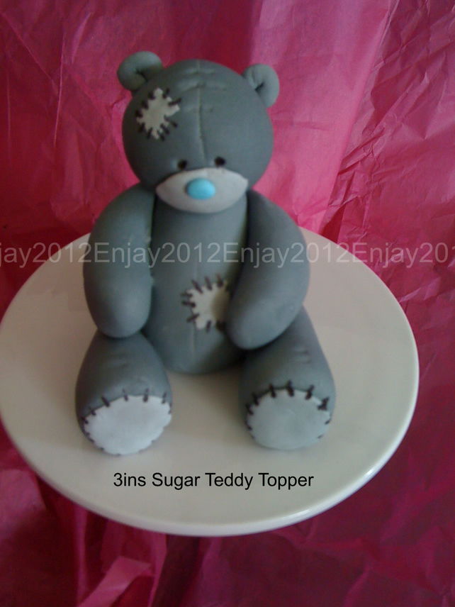Teddy Bear Cake  Topper,Decoration, Sugarcraft, Birthdays,Christenings,