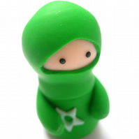 Little Green Ninja with Throwing Star