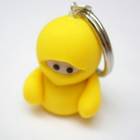 Yellow Ninja Keyring