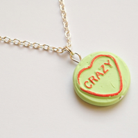 Green Loveheart Necklace