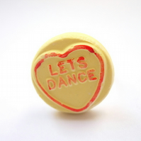 Yellow Loveheart Ring