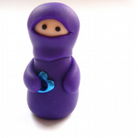 Little Purple Ninja with Heart