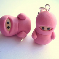 Little Dusky Pink Ninja Earrings