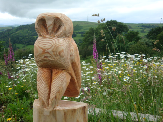 Chainsaw carved wooden owl folksy