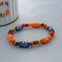 Child-Wood flower bracelet