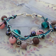 Sale-Heather knotted cord bracelet (small)
