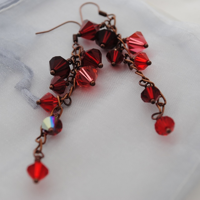 Ruby & Rose swarovski cascade earrings
