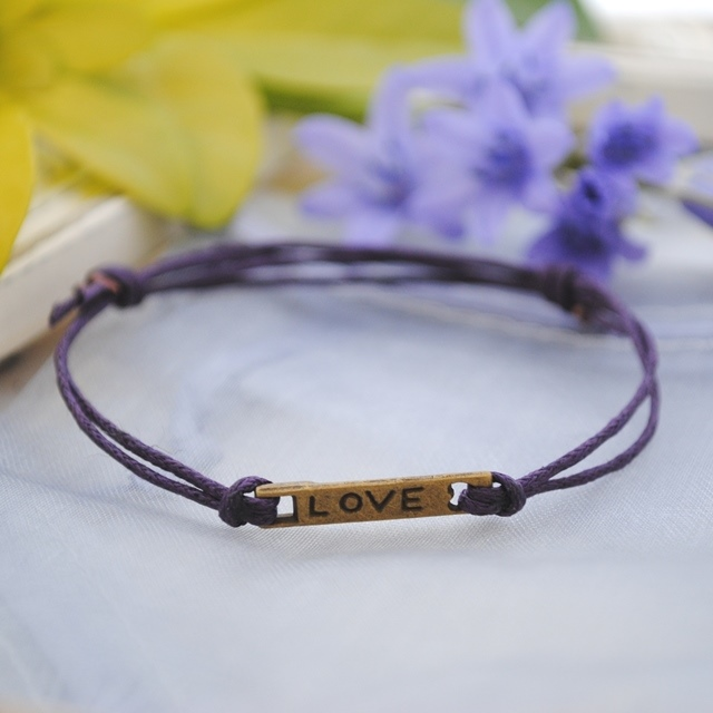 Friendship Bracelet-Purple Love