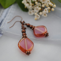Copper Pink earrings