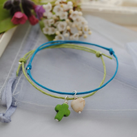 Friendship Bracelets-Turquoise & Lime Set