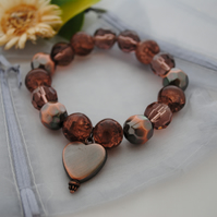 Copper heart bracelet