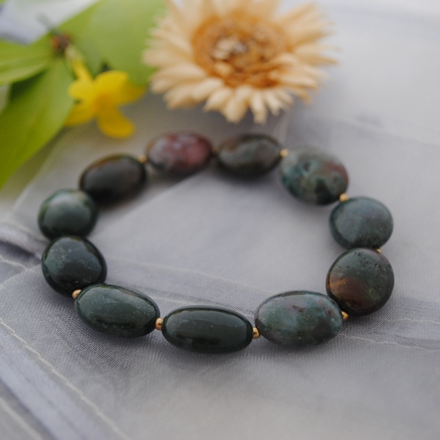 Indian Agate stretch bracelet