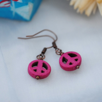 Fuchsia Peace earrings