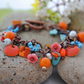 Copper Sunshine orange charm bracelet