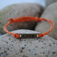 Friendship Bracelet-Orange Love