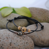 Friendship Bracelet-Double set leather ethnic