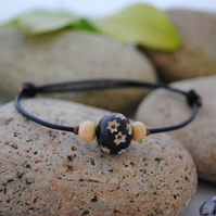 Friendship Bracelet-leather ethnic star bead
