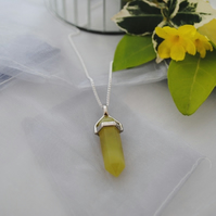Yellow Jade layering chakra necklace