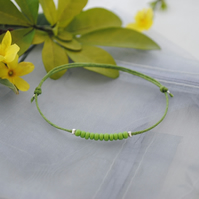 Friendship Bracelet-Lime with lime beads