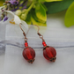 Red pumpkin earrings