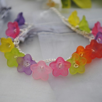 Child-Pink meadow charm bracelet