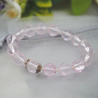 Child-pink and silver stretch bracelet