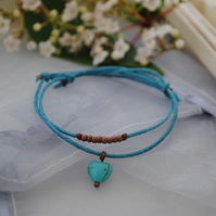 Friendship Bracelet-Double turquoise set