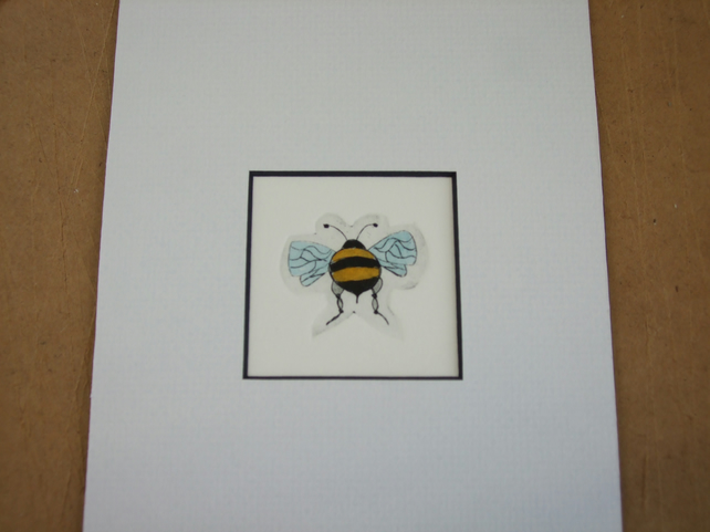 Small Bee etching