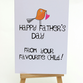 """Happy Father's Day From Your Favourite Child"" Handmade Card"