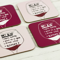 Wine To Do List, Funny Coaster