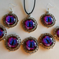 Stunning Purple Dragon's Eye Jewellery Set  with Special Offer Free Key Ring
