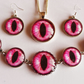 Vibrant Pink Dragon's Eye Jewellery Set with Special Offer Free Key Ring