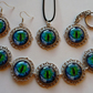 Beautiful Blue Dragon's Eye Jewellery Set with Special Offer Free Key Ring