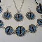 Gorgeous Blue Dragon's Eye Jewellery Set with Special Offer Free Key Ring