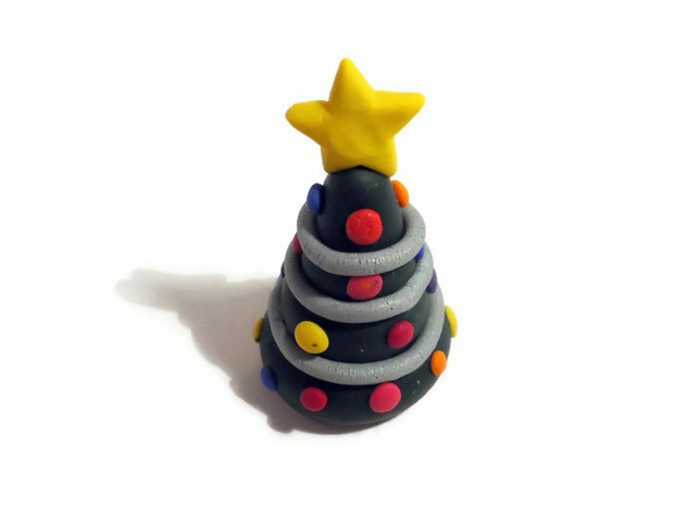 Polymer Clay Christmas Tree Decorations.Christmas Tree Polymer Clay Decoration Made To Order