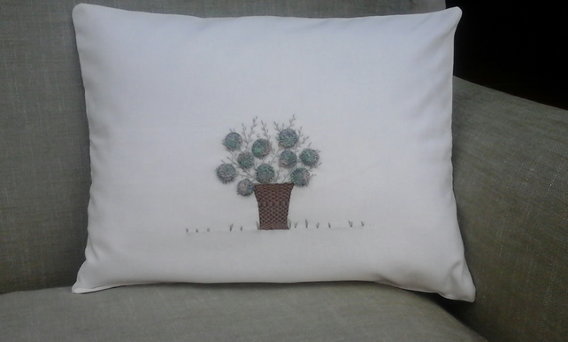 hydrangea cushion in alpine moss