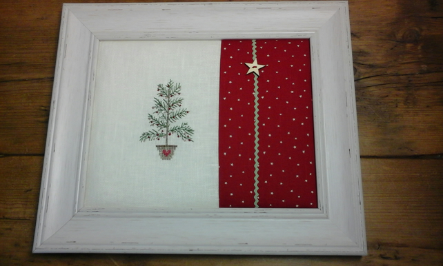 8x10 christmas tree cross stitch