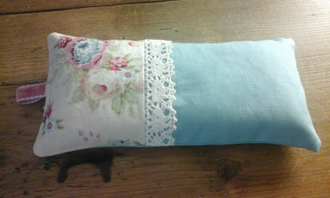 cream rose lavender pillow