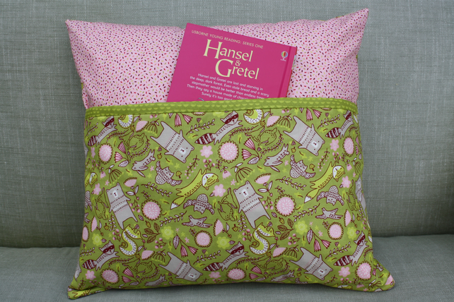 Hansel and Gretel book pillow