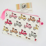 SALE  Scooters Pencil Case or make up bag