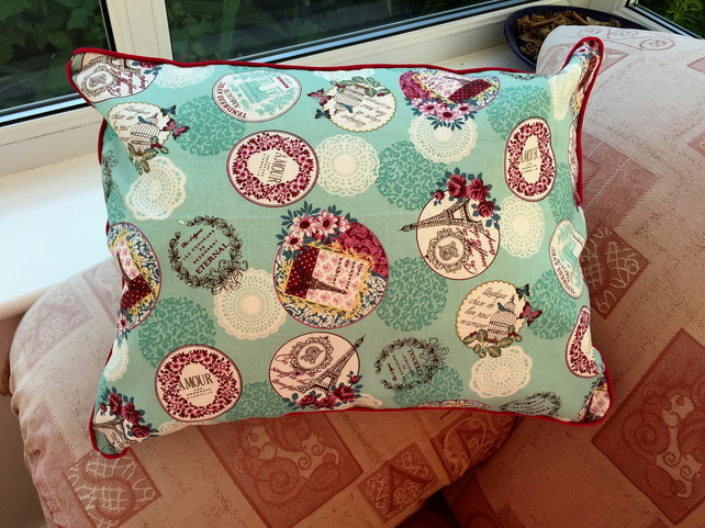 Paris Fabric  Cushion Cover