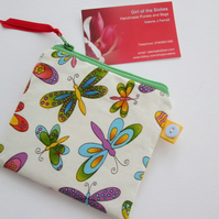 SALE Butterflies  Purse