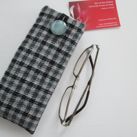 Tweed  glasses case