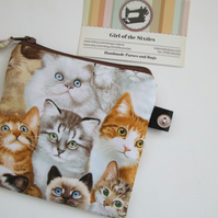 SALE Cats Coin Purse