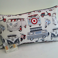 Campervan Scooter Cushion Cover
